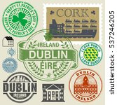 travel stamps or symbols set ... | Shutterstock .eps vector #537246205