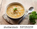 barley and vegetable thick... | Shutterstock . vector #537252259