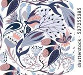 floral seamless pattern. hand... | Shutterstock .eps vector #537255385