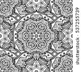 seamless oriental pattern of... | Shutterstock .eps vector #537255739