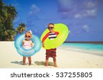 cute little boy and toddler... | Shutterstock . vector #537255805