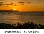 Sunset At Tumon Bay In Guam ...