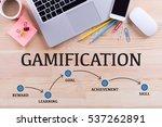 gamification milestones concept | Shutterstock . vector #537262891
