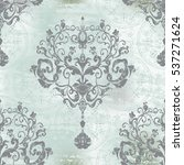 damask seamless floral pattern. ... | Shutterstock .eps vector #537271624