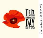 the poppy flower. remembrance... | Shutterstock .eps vector #537271699