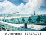 view out of airport windows ... | Shutterstock . vector #537271735