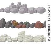seamless cartoon stones and...