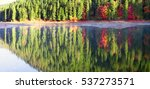 autumn forest colorful over the ... | Shutterstock . vector #537273571