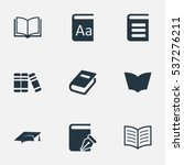 set of 9 simple knowledge icons.... | Shutterstock .eps vector #537276211