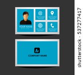 design template id card and... | Shutterstock .eps vector #537277417