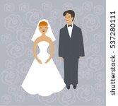 vector of wedding couple | Shutterstock .eps vector #537280111