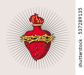 immaculate heart of blessed... | Shutterstock .eps vector #537289135