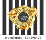 the logo with the words thank... | Shutterstock .eps vector #537295429