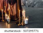 wedding decorations with... | Shutterstock . vector #537295771