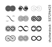 infinity symbols set | Shutterstock .eps vector #537296425