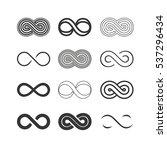infinity symbols set | Shutterstock .eps vector #537296434