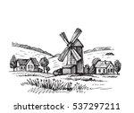 hand drawn doodle illustration... | Shutterstock .eps vector #537297211