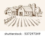 vector image of village and... | Shutterstock .eps vector #537297349