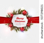 christmas greeting card   | Shutterstock .eps vector #537298021