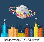 smart city. internet of things. | Shutterstock .eps vector #537304945