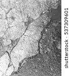 crack peel concrete floor... | Shutterstock . vector #537309601