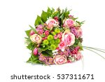 wedding bouquet made of pink... | Shutterstock . vector #537311671