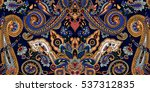 abstract geometric paisley... | Shutterstock .eps vector #537312835