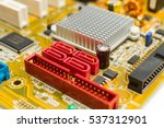 electronic circuit board with... | Shutterstock . vector #537312901