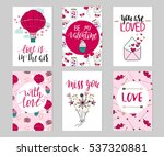set of valentine's day cards.... | Shutterstock .eps vector #537320881