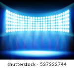 stadium spotlights. vector... | Shutterstock .eps vector #537322744