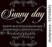 font handwritten  vector... | Shutterstock .eps vector #537328651