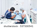 dentist and nurse carried out... | Shutterstock . vector #537330541