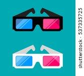 3d cinema glasses isolated on... | Shutterstock .eps vector #537335725