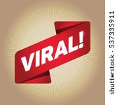 viral  arrow tag sign. | Shutterstock .eps vector #537335911
