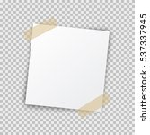 paper sheet pin on translucent... | Shutterstock .eps vector #537337945