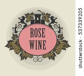 tag or label with the text rose ... | Shutterstock .eps vector #537339205