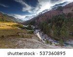 snowed alanos mountains over...   Shutterstock . vector #537360895