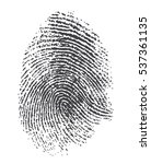 Fingerprint. Black Isolated...