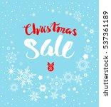 snow christmas sale   Shutterstock .eps vector #537361189