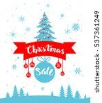 sale winter poster | Shutterstock .eps vector #537361249