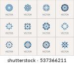 geometric logo template set.... | Shutterstock .eps vector #537366211