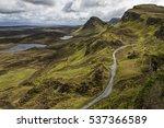 the quiraing   a landslip on...   Shutterstock . vector #537366589