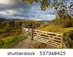 Wooden Gateway In A Beautiful...