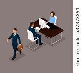 business people isometric set... | Shutterstock .eps vector #537378391