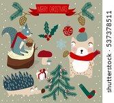 christmas animals | Shutterstock .eps vector #537378511