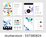 geometric background template... | Shutterstock .eps vector #537380824