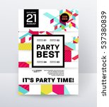 invitation disco party poster... | Shutterstock .eps vector #537380839