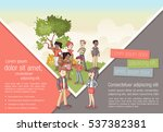 template for advertising... | Shutterstock .eps vector #537382381