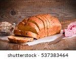 whole wheat bread.  | Shutterstock . vector #537383464