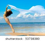woman summer sport | Shutterstock . vector #53738380